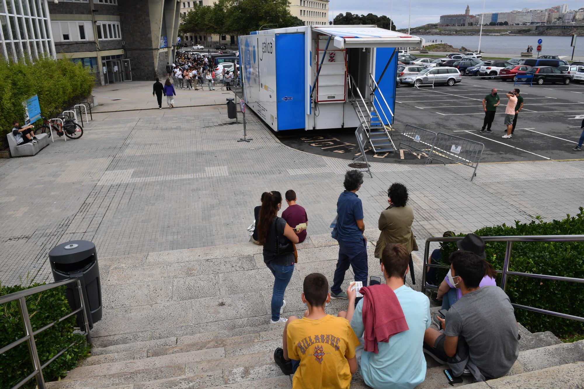 La Xunta realiza test de antígenos hoy en Riazor para aumentar los diagnósticos