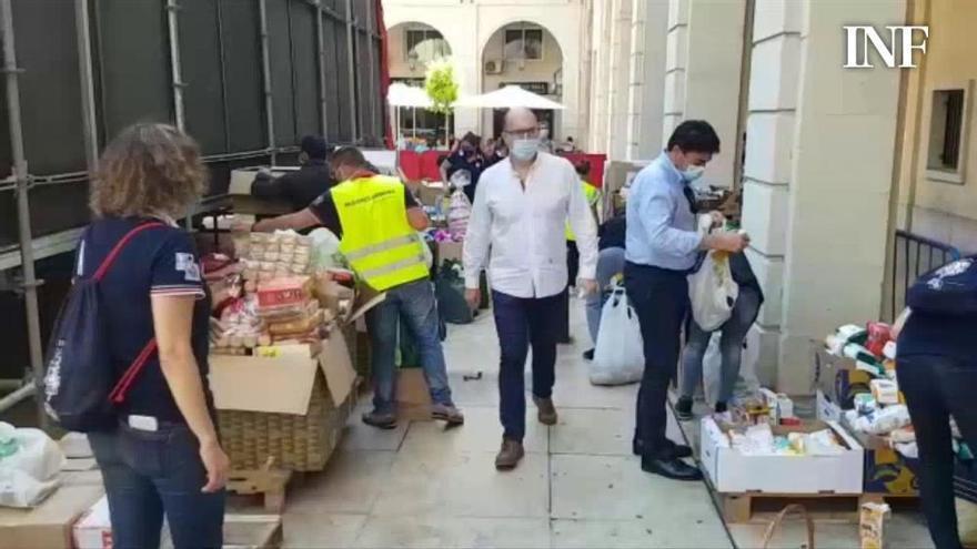 La Ofrenda de Hogueras tras el covid-19 prevé recoger más de 20 toneladas de alimentos