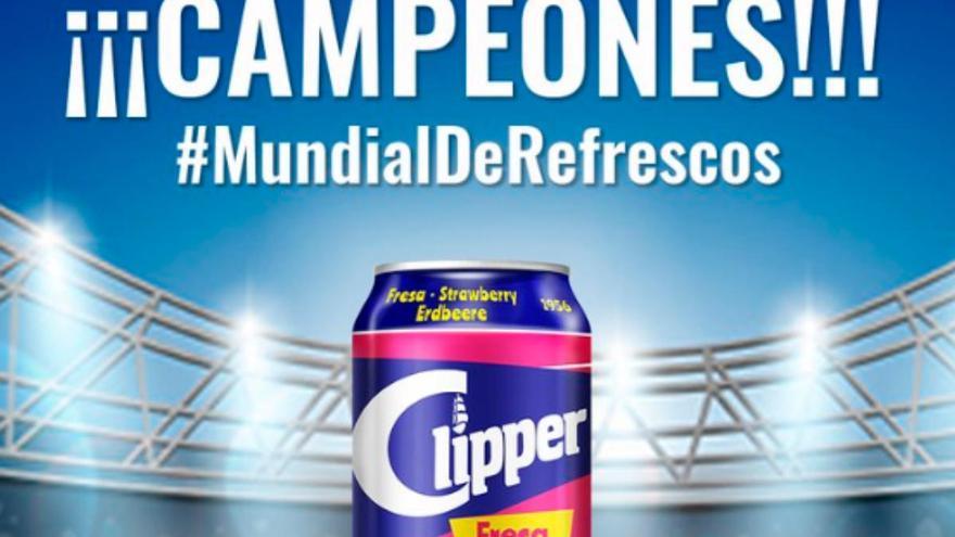 Los canarios consiguen que Clipper de Fresa gane el Mundial de Refrescos