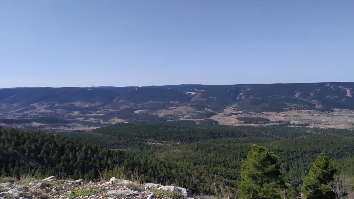 Un paisaje de la comarca del Maestrazgo, donde Forestalia plantea instalar 22 parques eólicos.