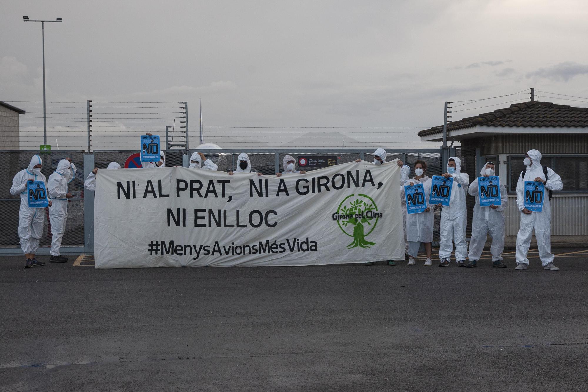 Protesta ecologista a Vilobí d'Onyar