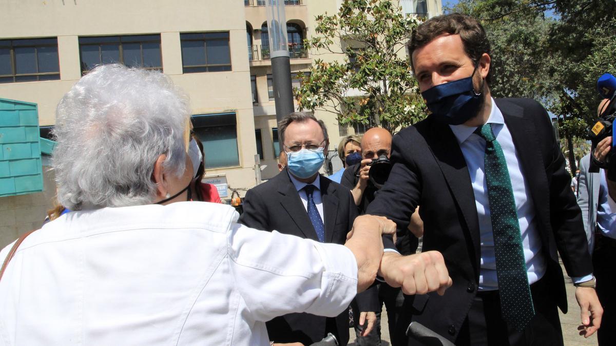 Pablo Casado en un acto reciente en Ceuta