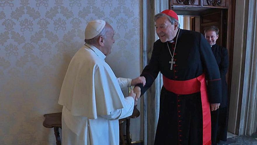 El Papa recibe al cardenal australiano Pell, absuelto de delitos de pederastia