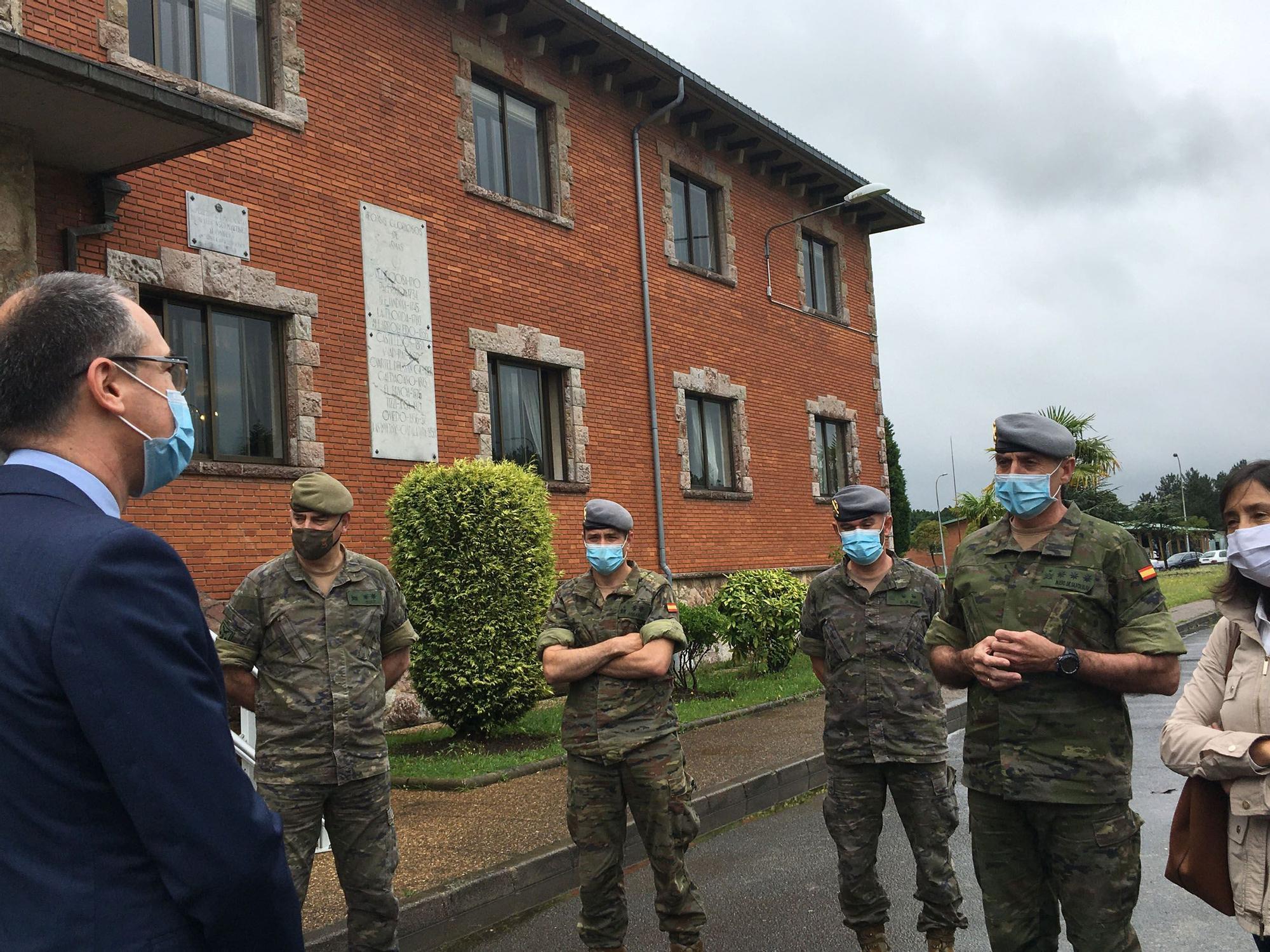Salud agradece a los militares de Cabo Noval su labor de rastreadores