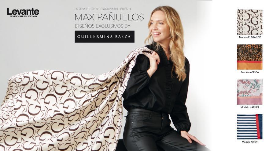 Estrena otoño con los maxipañuelos de Guillermina Baeza