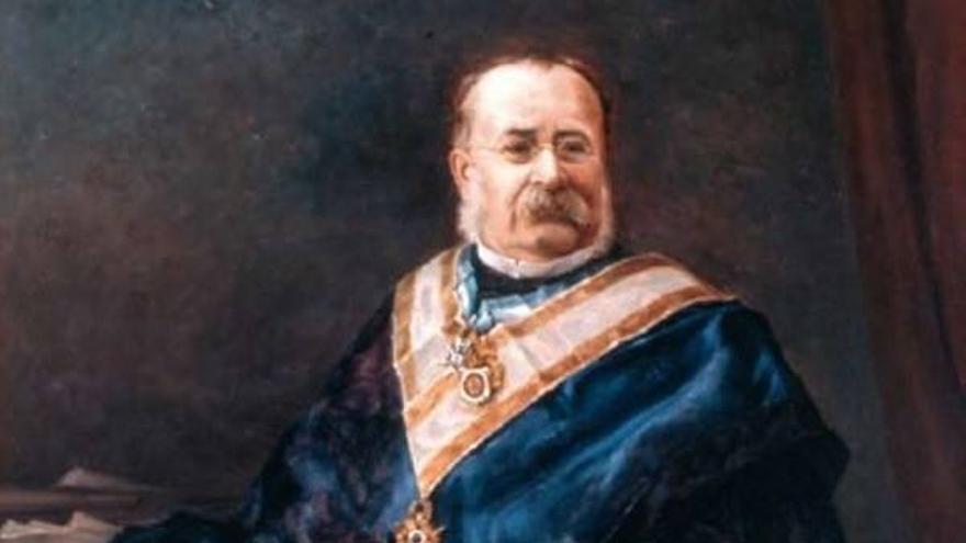 El cuadro olvidado de Acisclo Fernández-Vallín: el retrato de un prohombre gijonés que el Ayuntamiento descolgó de sus paredes