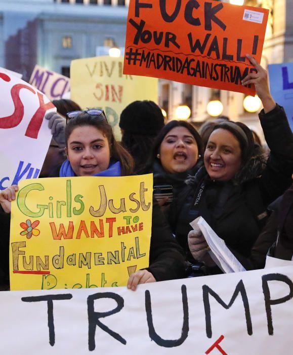 Protestas contra Donald Trump en Madrid