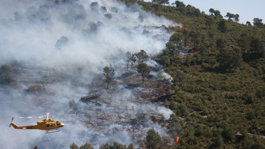 El tiempo en Alicante: Alerta máxima de incendios forestales en la provincia por la ola de calor sahariano