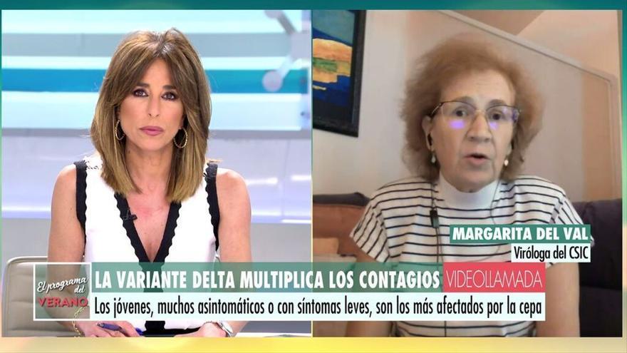 """La advertencia de Margarita del Val en el programa de Ana Rosa sobre la """"niebla mental"""" que provoca el coronavirus"""