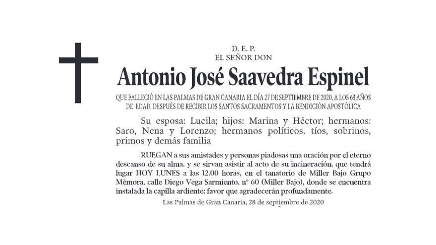 Antonio José Saavedra Espinel