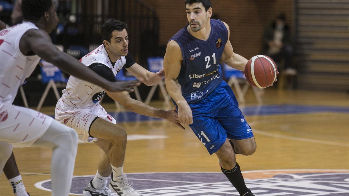 Saúl Blanco durante la victoria por 83-75 al Ourense