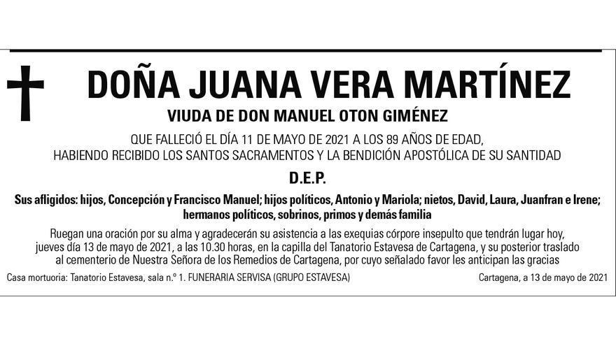 Dª Juana Vera Martínez
