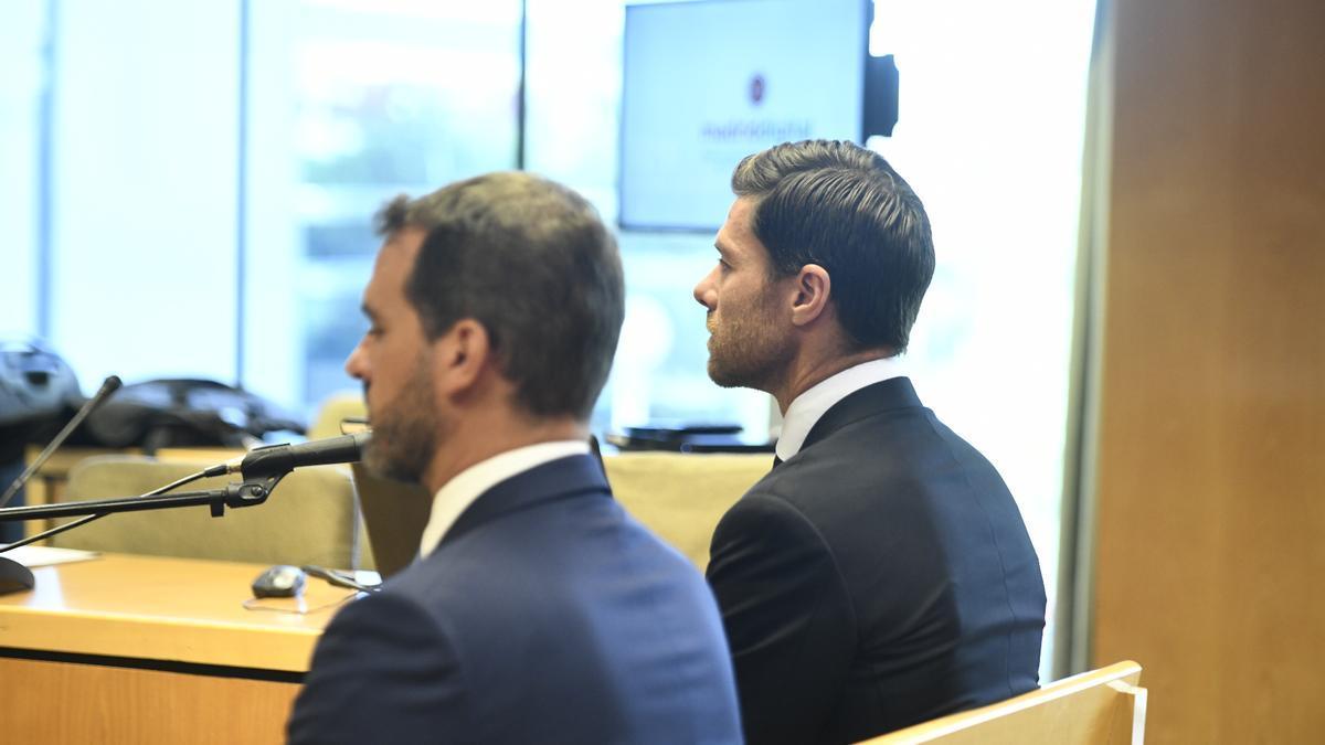 Xabi Alonso, durante el juicio