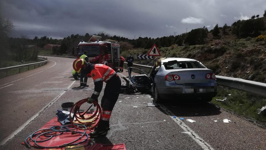 Un herido grave en un accidente de circulación en Cuevas Labradas