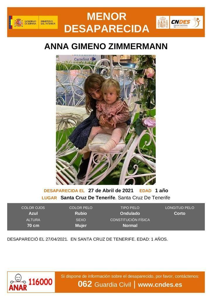 Las menores desaparecidas en Santa Cruz de Tenerife.