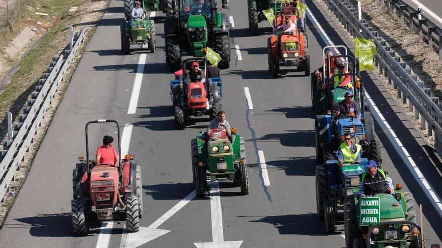 """Asaja-Alicante seguirá con las movilizaciones en el campo al considerar """"light"""" la reforma de la Cadena Alimentaria"""