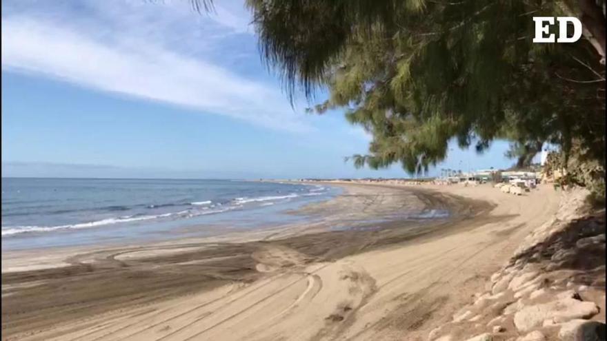 Coronavirus en Canarias | Así están las playas de Maspalomas y del Inglés