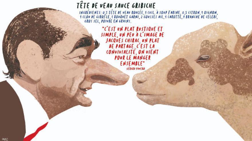 Chirac y la cabeza del rey