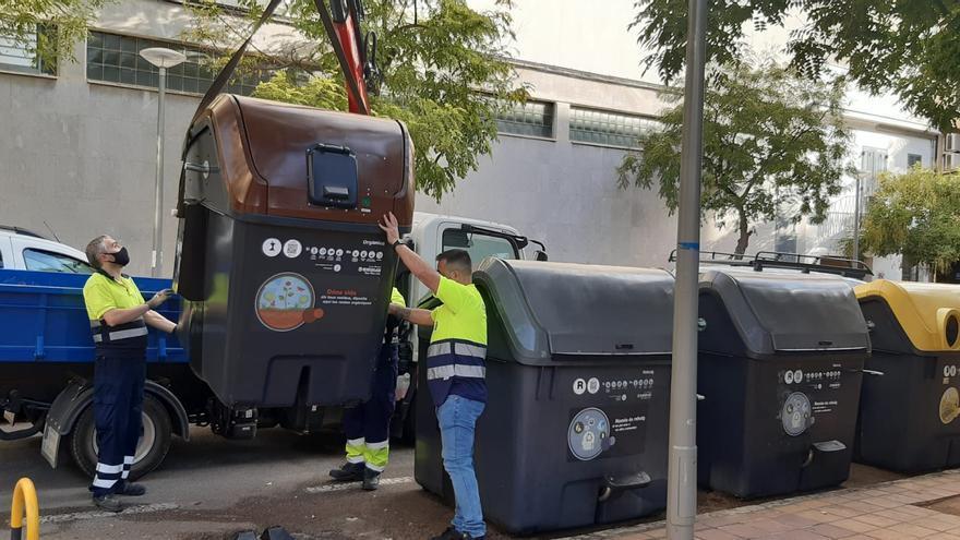 Empieza la instalación de contenedores de recogida orgánica en Santa Catalina, Son Armadams, Son Dureta i la Teulera
