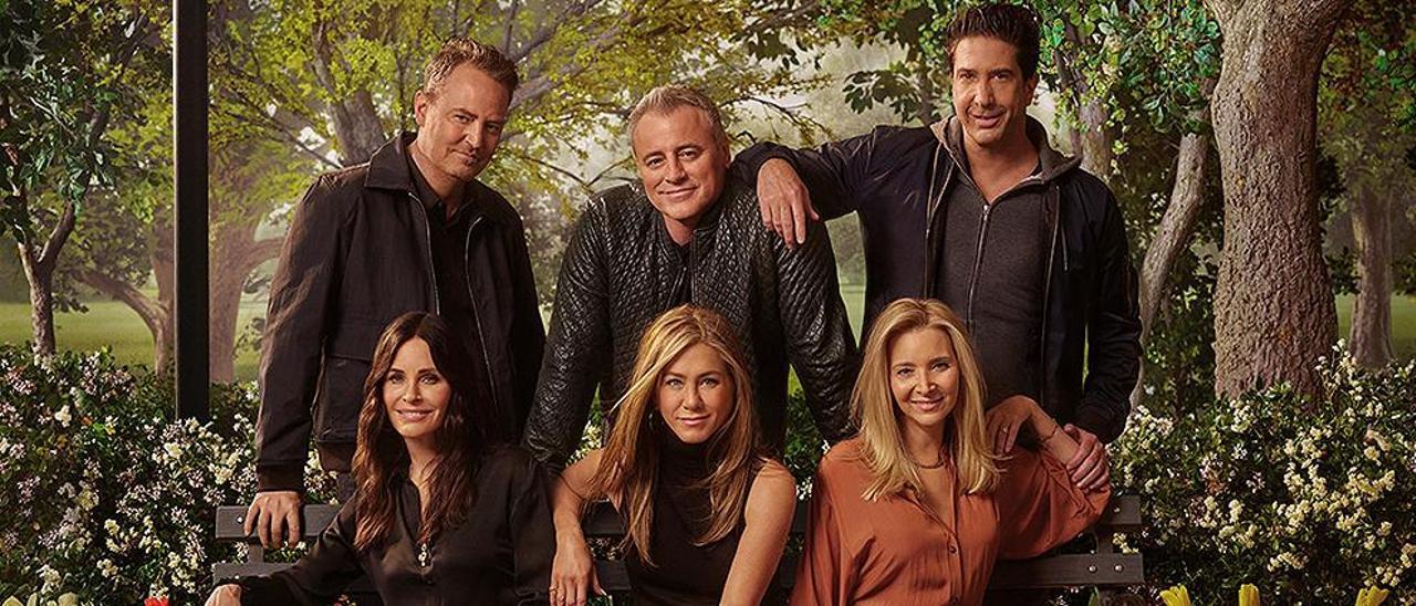 Imagen de la reunión de 'Friends'