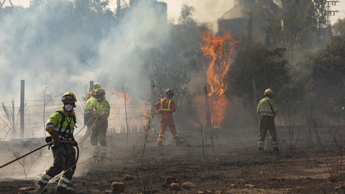 Foto del aparatoso incendio de Sagunto