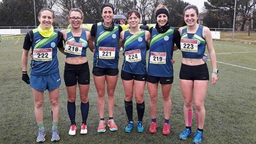 L'equip femení de l'Avinent guanya el campionat català de cros curt a Riudellots