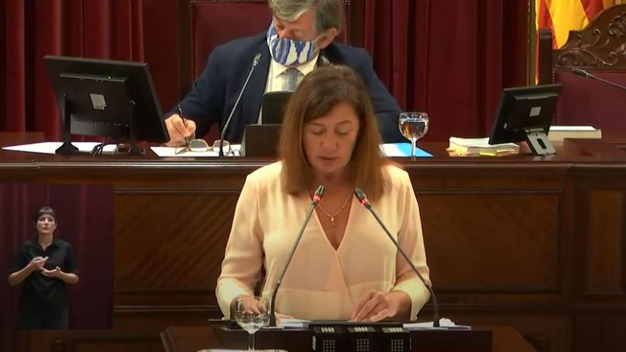 Francina Armengol: «No hemos podido evitar focos con fallecidos en residencias»