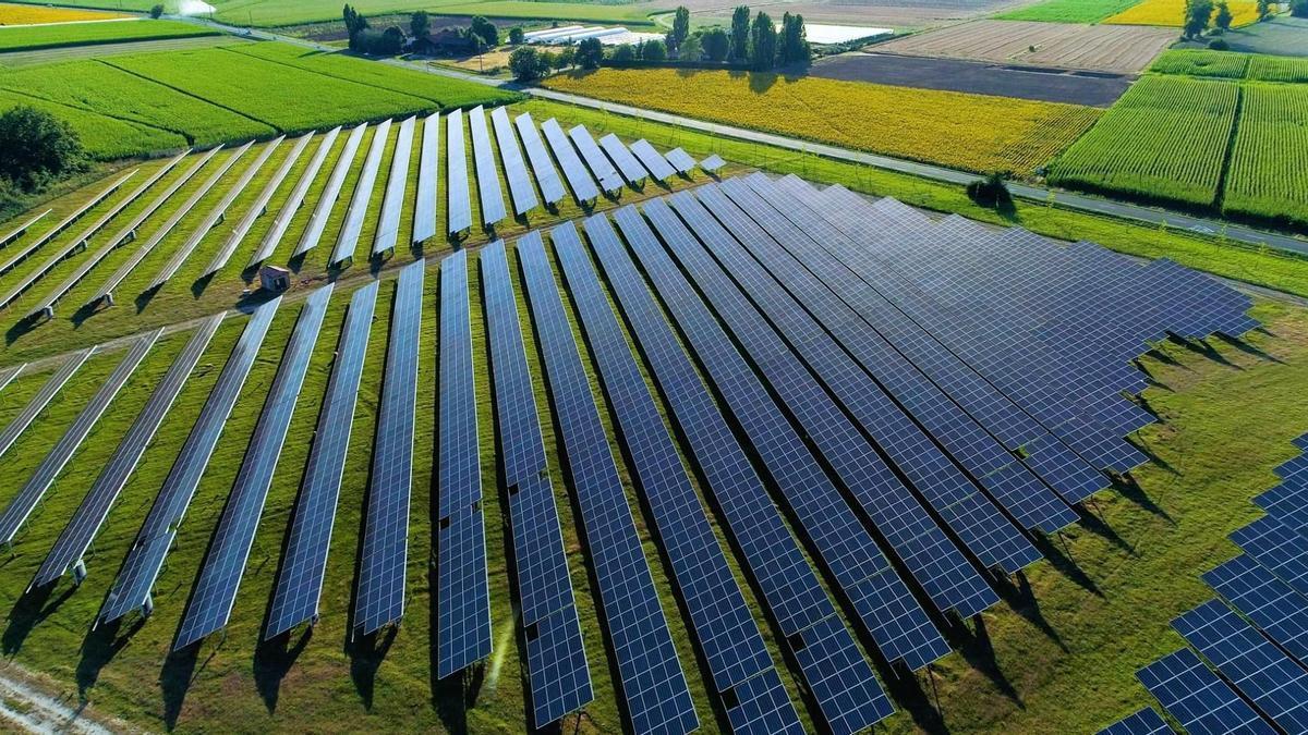 La nueva planta fotovoltaico puesta en marcha por Amazon en Zaragoza.