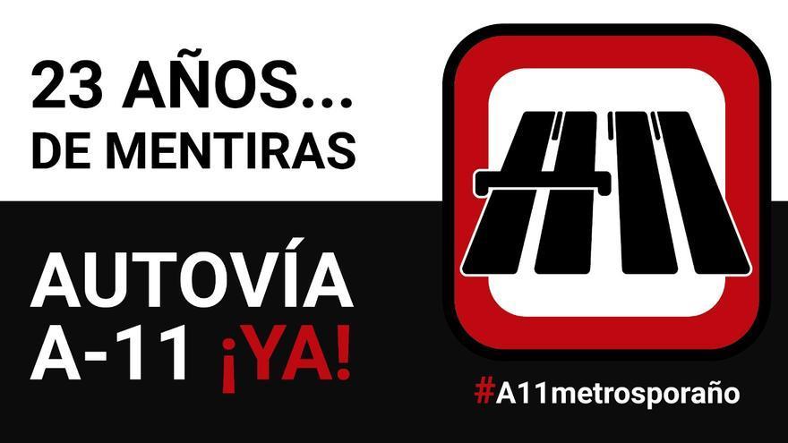 #A11MetrosPorAño: la campaña para reivindicar la conversión en autovía de la N-122