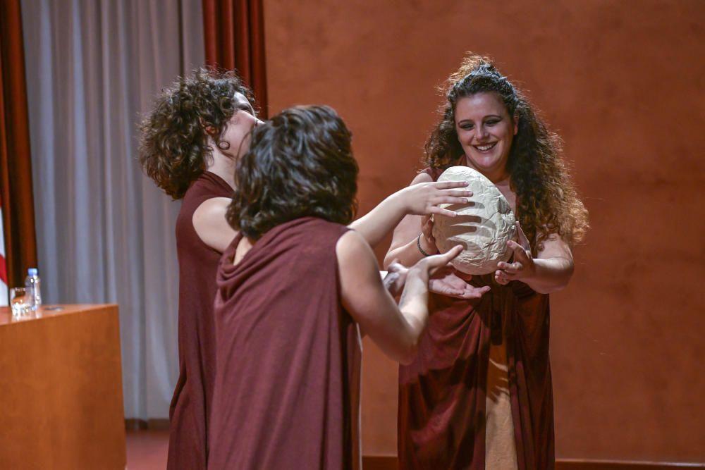 Un moment de l'acció teatral «Indòmita», que va representar Projecte Lillith