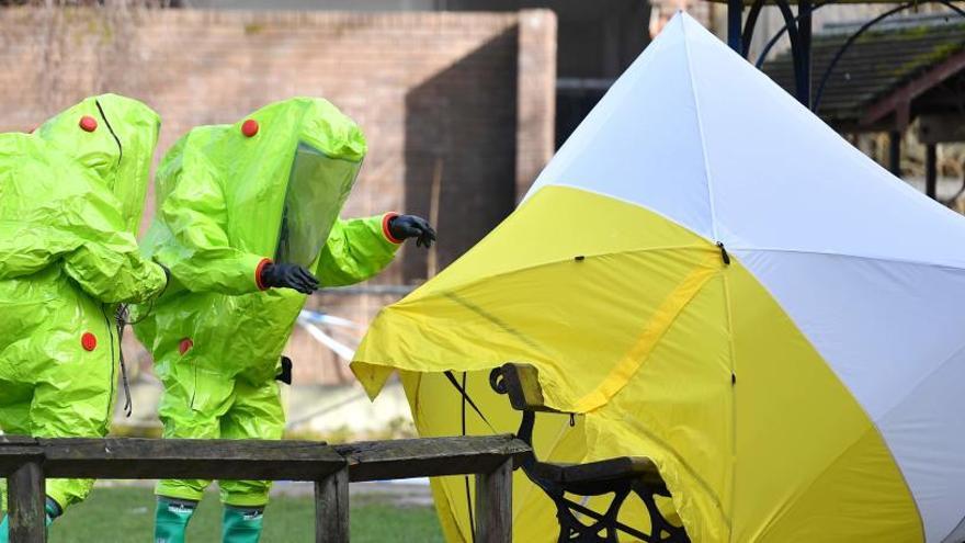 """El agente nervioso que envenenó a los Skripal estaba """"en forma líquida"""""""