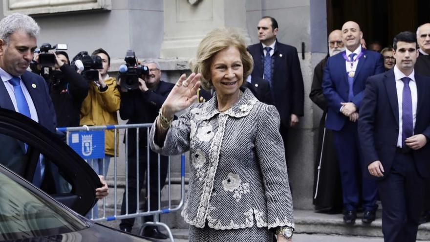 La reina Sofía reaparece tras tres meses de ausencia