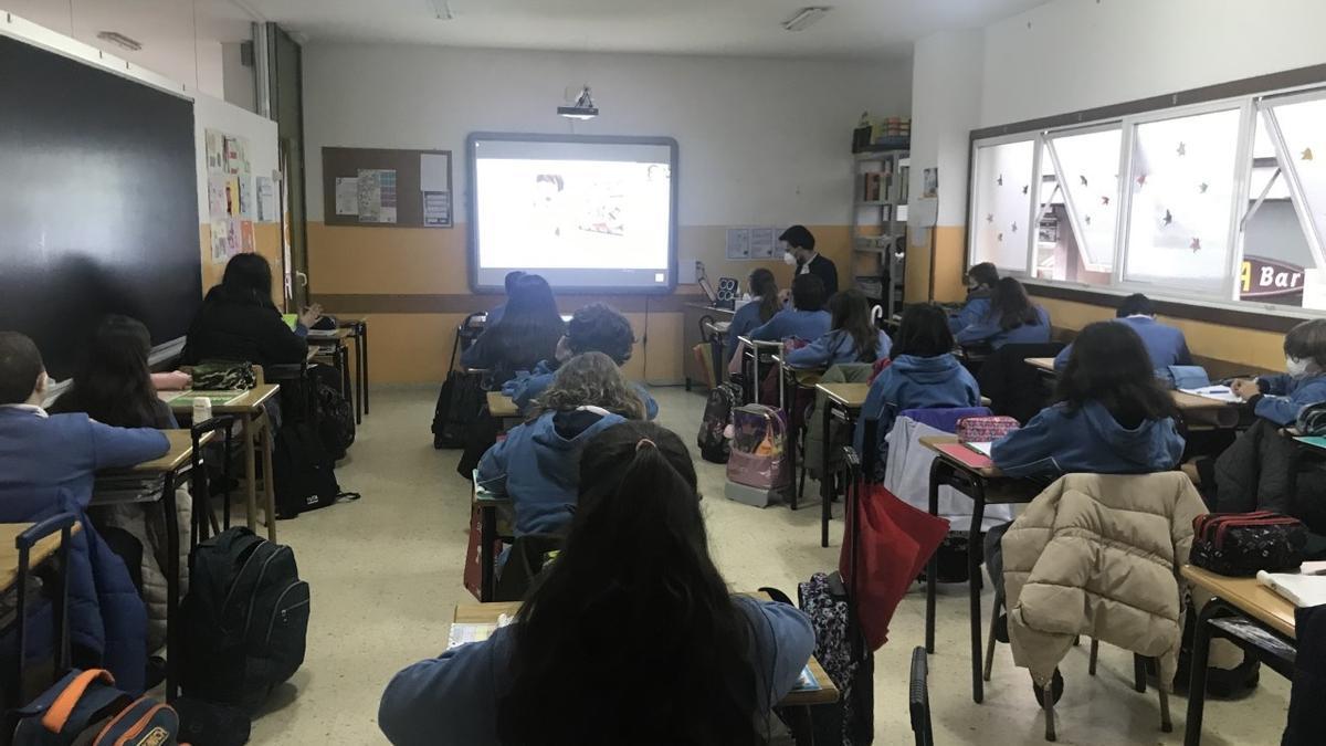 O Colexio Plurilingüe Alba nas conferencias virtuais.