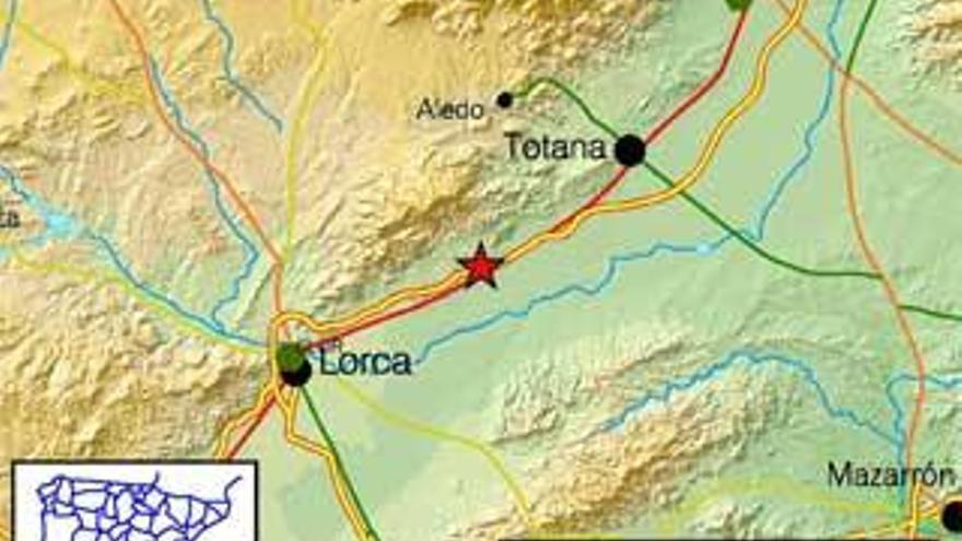 Un terremoto de 3,7 grados sacude Lorca sin causar daños