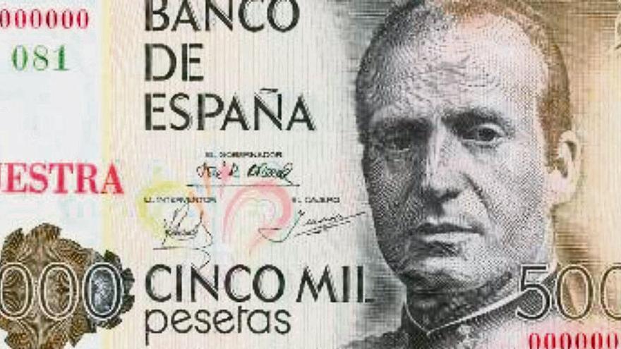 Noch schnell die Peseten gegen Euro umtauschen