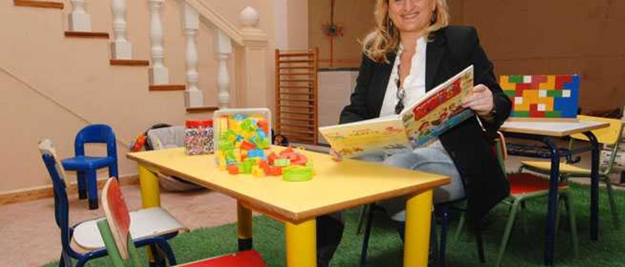 Marta García, en el local donde estará la escuela infantil El Castañar.