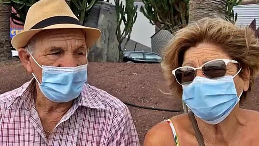 Una pareja de agricultores, en vilo ante su tercera erupción volcánica