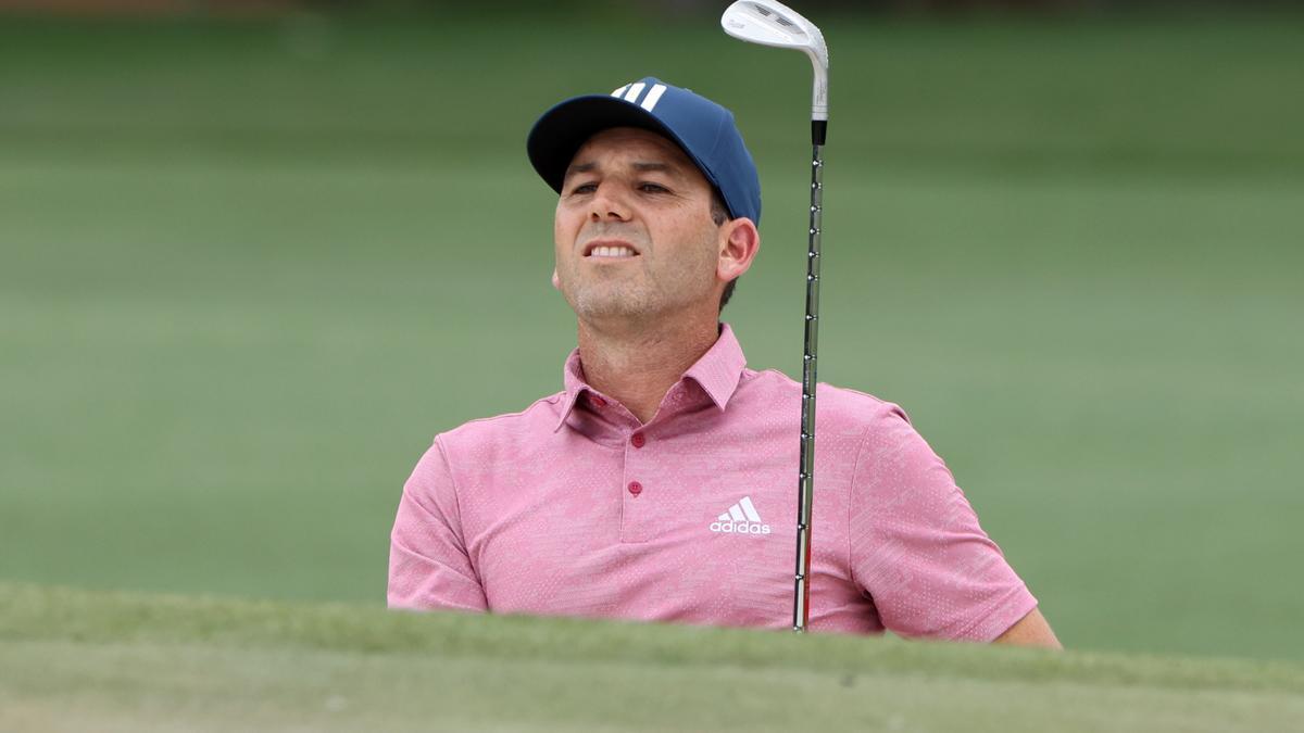 El borriolense Sergio García, durante la primera jornada del Masters de Augusta 2021 este pasado jueves.