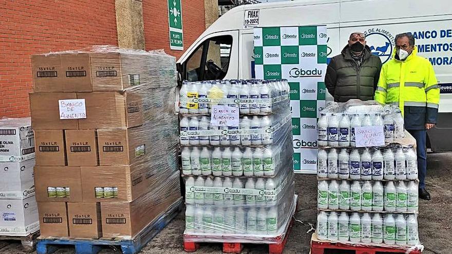 Cobadu dona 2.500 kilos de alimentos al Banco de Alimentos de Zamora