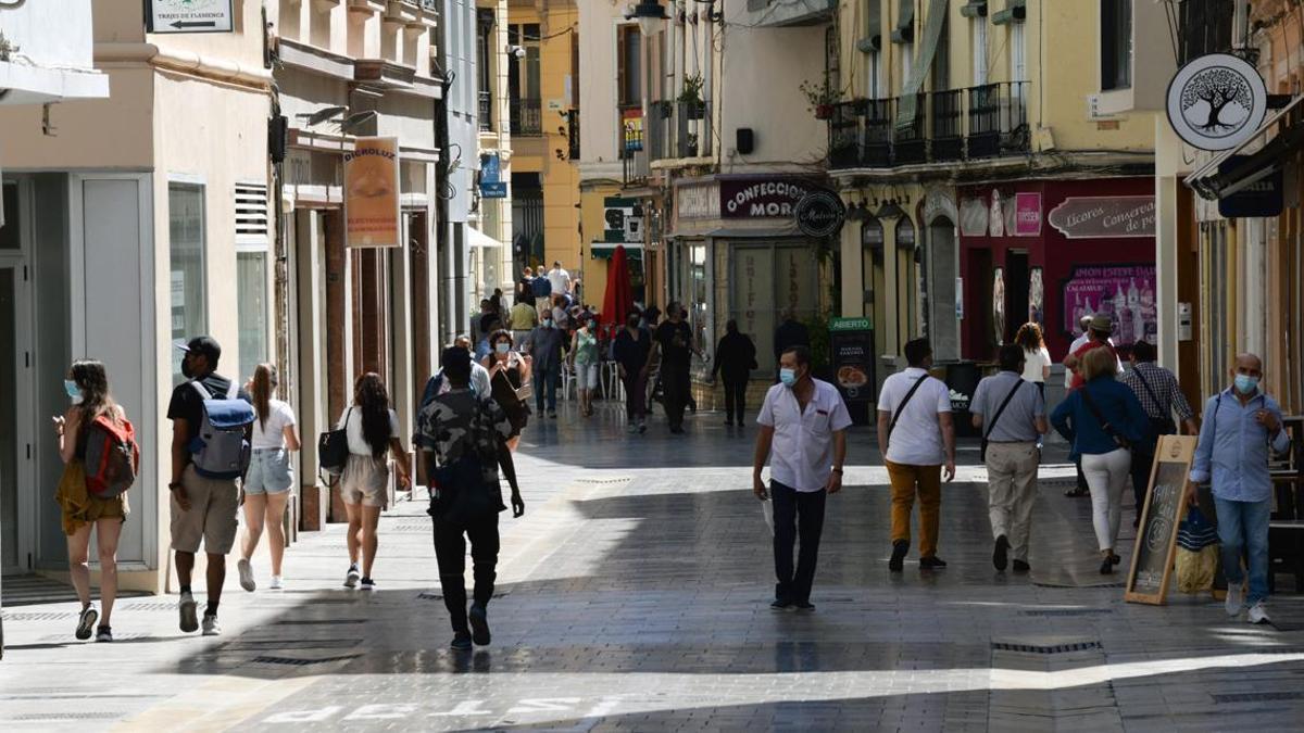 El centro de Málaga, este pasado fin de semana.