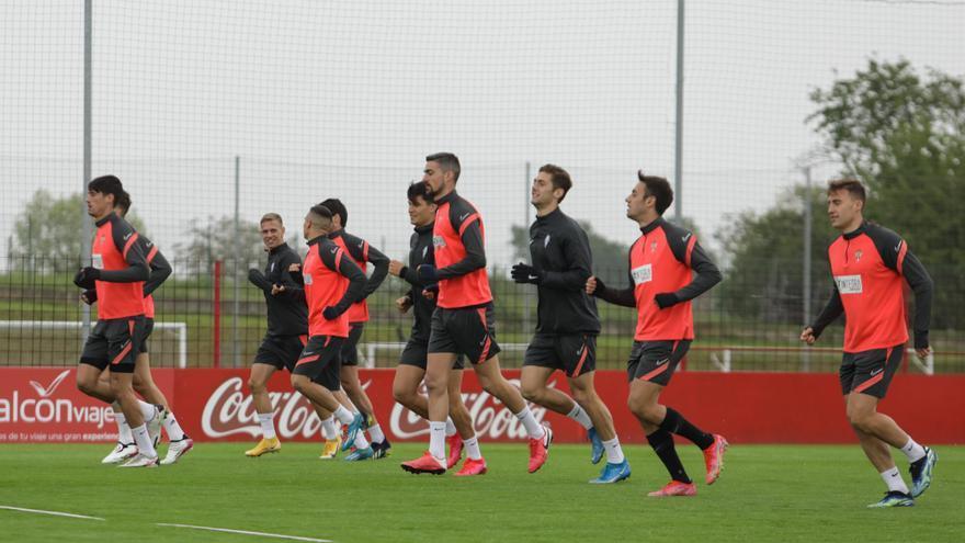 El Sporting repite once para la visita al Leganés