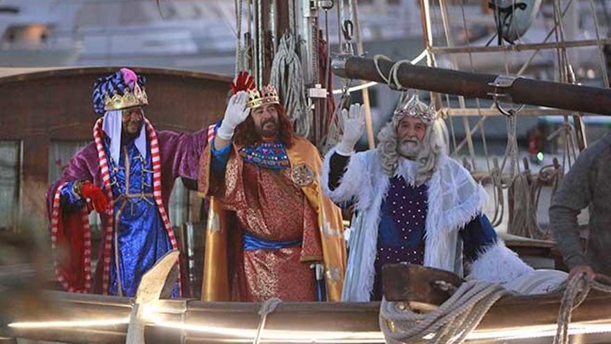 Los Reyes Magos llegan al Moll Vell de Palma