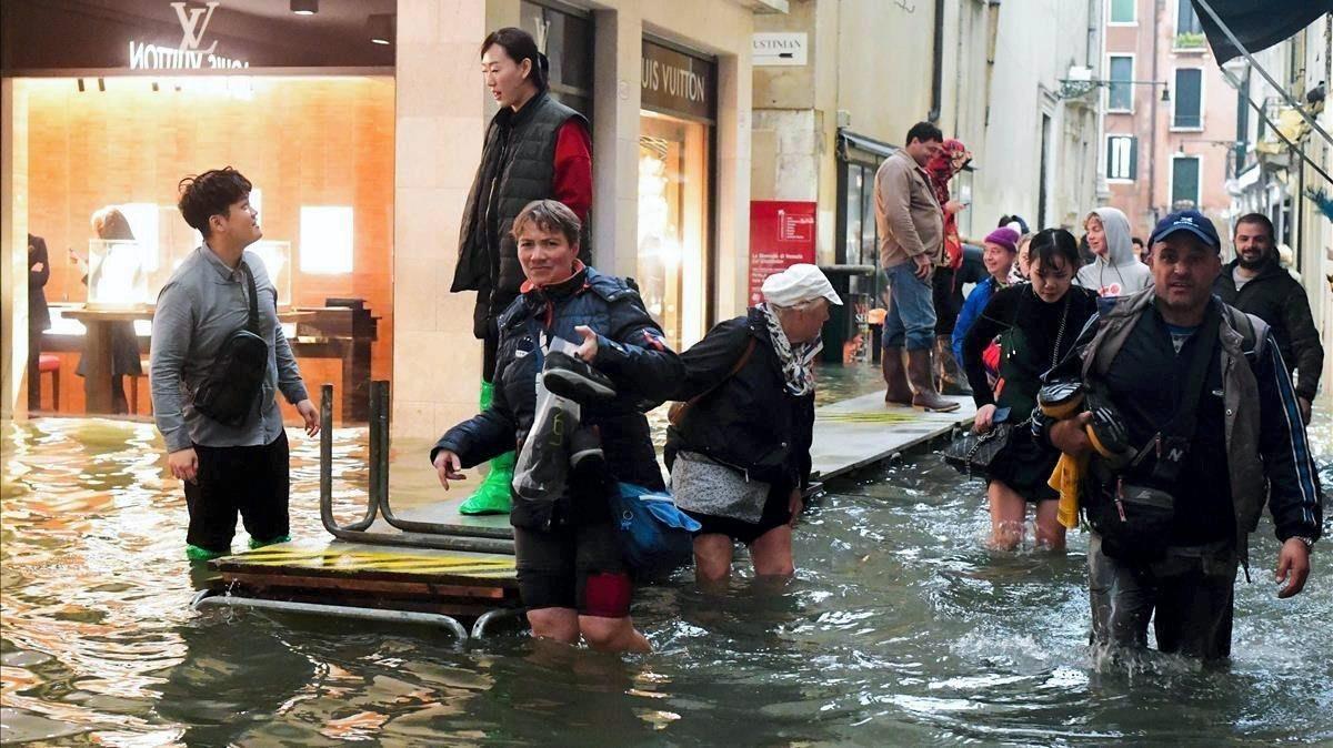 Venecia después del 'acqua alta'