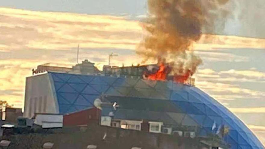 Incendio en la sede del Celta en la calle Príncipe de Vigo