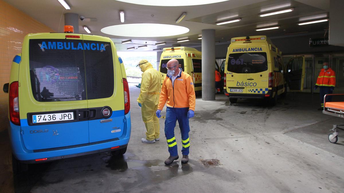 Urgencias del hospital de Ourense.