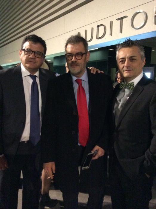 Toni Cabot, Jorge Fauró y Javier Izquierdo a las puertas del ADDA