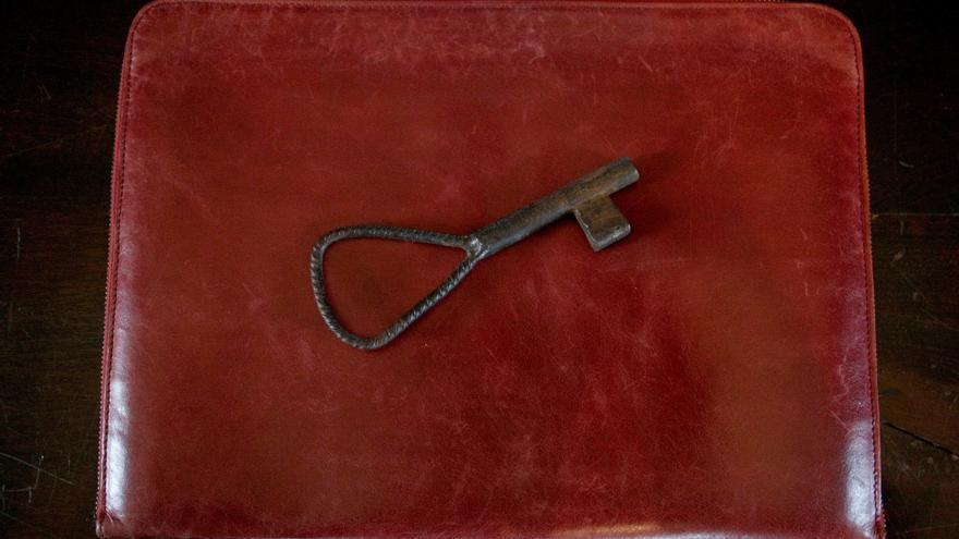 La llave del Pazo de Meirás, que desde el 10 de diciembre de 2020 es patrimonio público