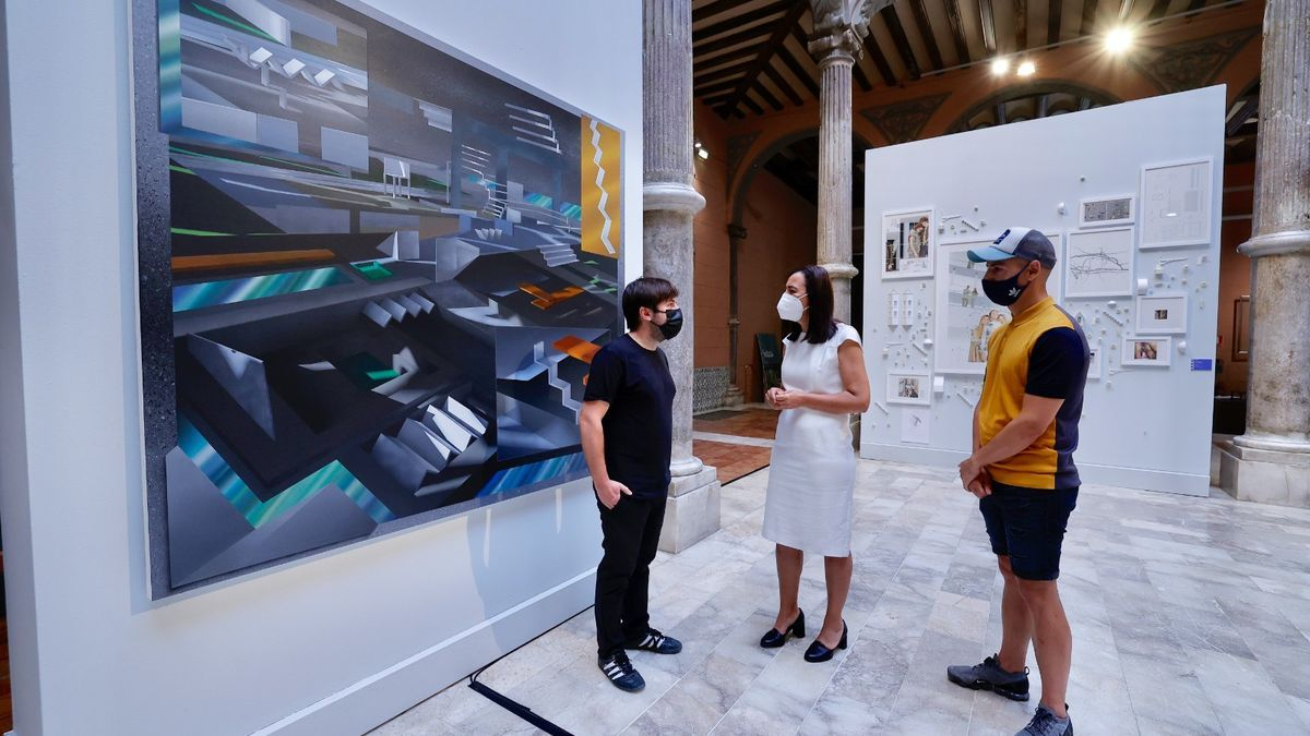Fernando Romero y Raúl Uusa, ganador y accésit de la XXXII edición del premio de arte Santa Isabel de la DPZ.