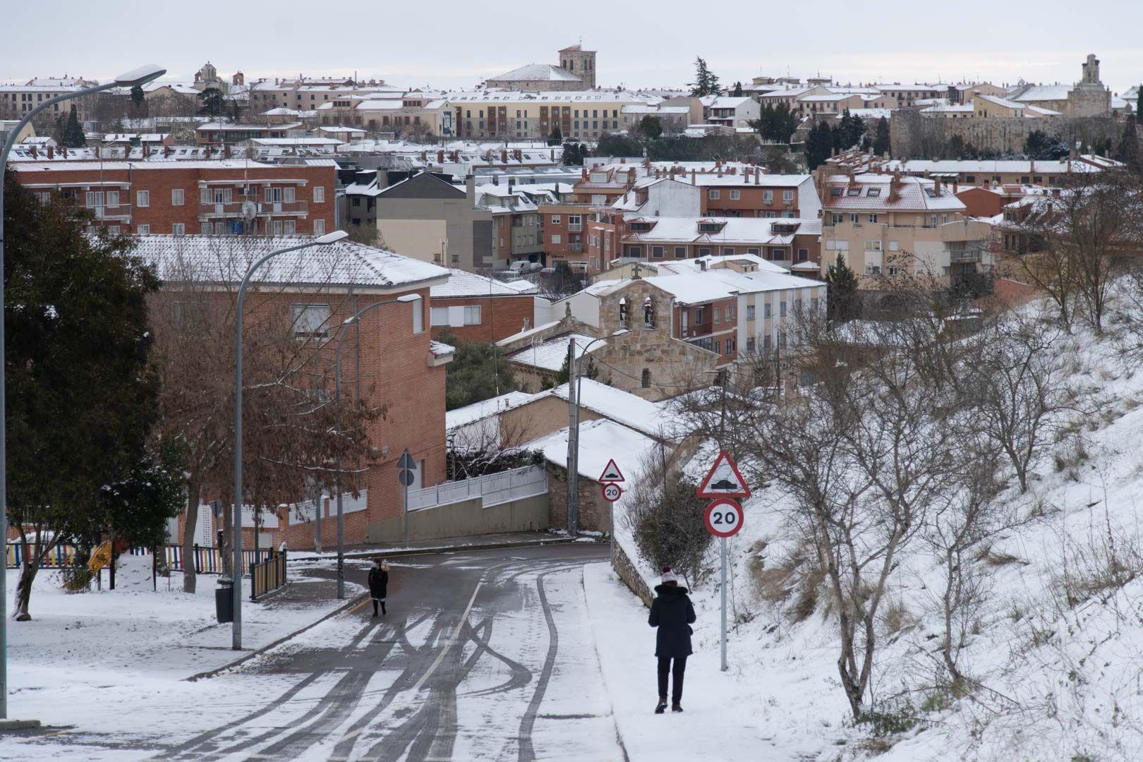 La borrasca Filomena sigue castigando a Zamora