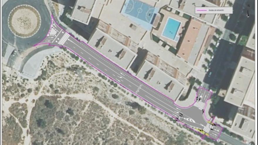 Nuevos aparcamientos disuasorios para Alicante con 261 plazas en la zona de San Gabriel- El Palmeral